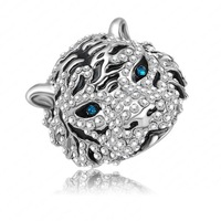 Hot Sale Punk Enamel Tiger Shaped Finger Rings/Eangement Rings With Platinum Plating Czech Crystals Charm Jewelry Ri-HQ0180