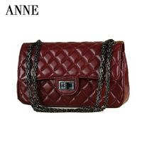 Anne new sheepskin shoulder bag small bag Quilted leather shoulder bag Messenger bag lady