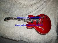 Wholesale -Red Custom Shop ES335 Jazz Guitar Hollow body Guitar Beauty Semi-Hollow white binding free shipping Guitar factory