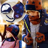 HT-1445  free shipping Girls winter hats  Bomber Hats Acrylic  children winter earmuff hats