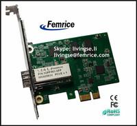 Desktop Computer Application 1000Mbps Ethernet Network Card Single Ports SFP Slot NIC Card (2 pieces)
