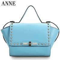 British retro leather leather shoulder bag lady fashion rivets Shoulder Messenger Bag handbags
