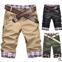 Free shipping 2014 Autumn summer short sport Casual men's shorts khaki black