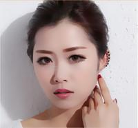 New Korea brand design women's full crystal clip earring star fashion earring clip wholesale for Christmas gift