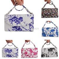 "A2 4.7"" New Blue White Porcelain Leather Case Cover Shoulder Strap Bag For iPhone 6 CN164 P"