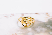 Sale one-pcs Statement Rings 2014 Fashion Women Jewelry 18k Gold Plated Tree Of Life Ring $10 free shipping