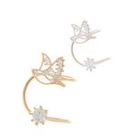 New Korea brand design Christmas jewelry women's elegant style gold/silver earring clip charm flower clip earring wholesale