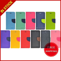 Mercury Cross Texture Horizontal Flip Leather Case Cover with Credit Card Slots for iPhone 6