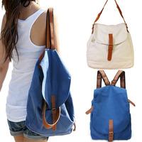 Women's Ladies Vintage Canvas Satchel Rucksack Backpack Travel Bag Bookbag