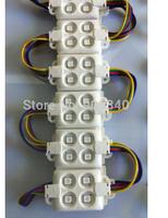 500pcs/lot 5050 RGB 4leds injection led module12V 1W 120degree IP65 Anti-static anti fire Anti-UV ABS shell advertising led