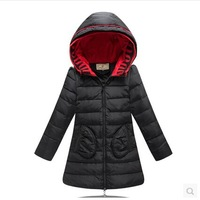 2014 Winter New Children Down & Parkas Coat Girls Fashion Thicken Hooded Down Jacket Girl Winter High Quality Overcoat Outerwear