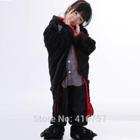 Promation 2014 new children sleepwear free shipping balck bat hooded kids unisex one piece pajamas