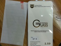 """2.5D For iphone 6 plus 6G 6TH 5.5"""" Tempered Glass Screen Protector Protective screen film with retail package"""