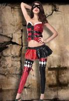 Naughty Harley Jester Halloween Costume for women fantasy cosplay costume  B6009TZ