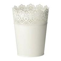 1 piece 20x25cm white color galvanised steel decorative plant pot
