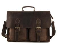 7105B J.M.D Crazy Horse Leather Style Men's Briefcases Handbag Laptop Bag Messenger Bag