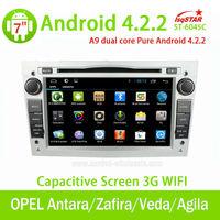 Wholesale pure Android4.2 car dvd for OPEL Antara/Zafira/Veda/Agila/Corsa/Vectra with Auto Radio 3G wifi Steering Wheel Control