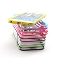 Fashion Soft Durable Silicone Cover Frame Edge Skin Fitted Case for Iphone 6 Air 4.7inch New Arrival 2014
