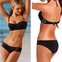 New arrival cutout art bikinis set vitoria swimwear women secret swimsuit steel supporting monokini - VS 61