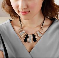 Wholesale 2014 Hot Sale Branded Statement Trendy Fashion Alloy Metal Pendant Women Necklaces FN0122