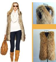EAST KNITTING CC109 New 2014 Winter Women Outwear Faux Fur Like Fox Fur Tops Plus Size Free shipping(China (Mainland))