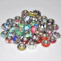 brand 925 european charms mixed european beads.DIY fashion glass beads thread.European and American fashion jewelry glass beads