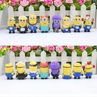 Despicable Me 2 Minions purple minions Figure doll Toys 8pcs/lot free shipping