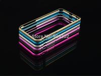 2014 Hot Sale Rushed Phone Cases Hippocampal Buckle Aluminium Metal Bumper For Iphone6 Plus 5.5 Inch Slim Frame 5pcs