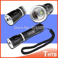 Zoomable LED For camp hiking UltraFire CREE Q5 2000Lumens lumen  linterna Flashlight Torch tactical bike flash light shocker
