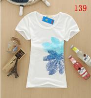 Fashion women T-shirts 2014 casual Women o-neck femininas basic t-shirt das mulheres Women's Slim tshirts cotton clothing