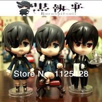Free Shipping Japanese Animation model Kuroshitsuji PVC Action & Toy Figures Model 3pcs/set