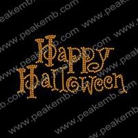 Free Shipping 50Pcs/Lot Happy Halloween Crystal Rhinestone Transfer Bling Designs Wholesale Supplier