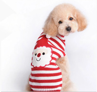 Xmas Winter Santa Face Pet Dog Cat Clothes Winter Warm Sweater Knitwear Knit for Dogs Puppy Coat Apparel Christmas Free shipping
