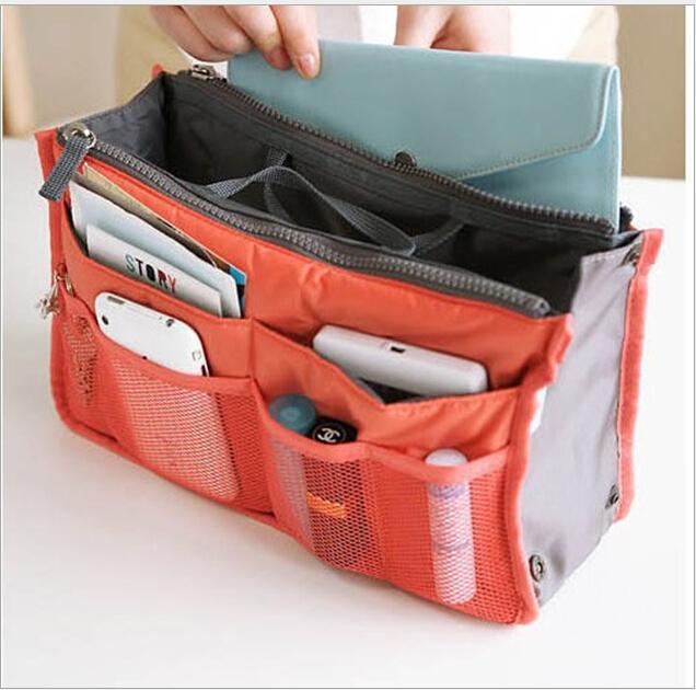 HOT Sale ! 13 Colors Make up organizer bag Women Men Casual travel bag multi functional Cosmetic Bag storage bag in bag Handbag(China (Mainland))