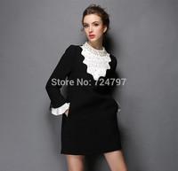 M32842 free shipping high degree new design 100% authentic 5XL Autumn women dress 2014