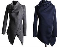 New 2014 Autumn Winter Women Thin Woolen Coat Slim Temperament Overcoat Fashion Trench woolen coat For Woman