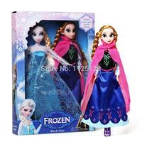 2PCS/Lot Hot Sell Frozen Princess 11.5 Inch Frozen Doll Frozen Elsa and Anna Frozen Toys Good Girl Gift
