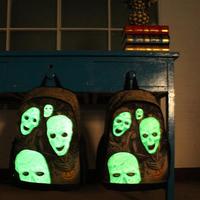 2014 new Women Men Casual Canvas Luminous Skull Backpack Unisex School Bag mix style dropshipping