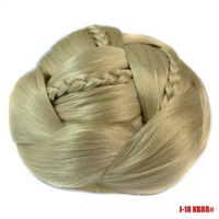Women's synthetic hair bun chignon blonde braided  chignon 1 piece 5 colors
