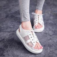 women shoes winter 2014 Summer mesh sandals women flat heel platform sandals muffin lace breathable mesh sandals