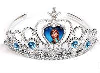 5PCS/Lot Fashional Frozen Anna Elsa Tiara Crown Crystal Cartoon Hair Band For Children Girl Free Shipping