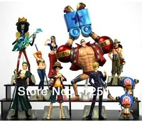 Free Shipping Animation model for one piece 2 years after straw hat full set of 10 models Action figure toys Doll