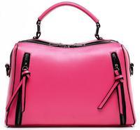 Women Genuine Leather Bag Brand Designer Large Capacity Double Zippers Shoulder Bag Women Handbags Casual Vintage Messenger Bags