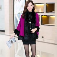 Women Fall Fashion Outerwear Women Ladies Winter Clothes Women Cape Faux Fur Shawl Womens Cardigans Knit Cashmere Coats