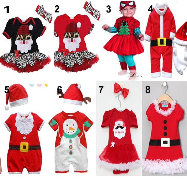Christmas clothing baby boys and girls christmas dress xmas dress