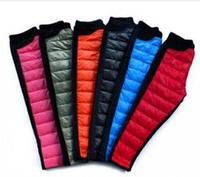 Children fall/winter cold wind warm down cotton trousers Pleuche warm add wool trousers K28.7