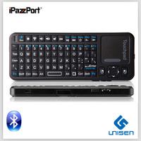 iPazzPort mini wireless keyboard bluetooth touchpad smart TV keyboard China factory supply