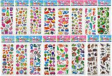 Children girls/boys birthday gift 50 Sheets Set-C-Mixed Kids Cute Stickers/ Puffy Decoration Stickers/Kids DIY Toy(China (Mainland))