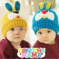 New Korean rabbit style baby boys Winter wool Hat Kids girl's Earflap Cap 1-4 Years Old