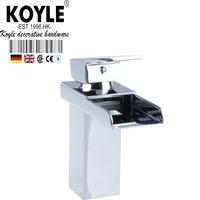 KOYLE - Bathroom waterfall faucet Brass  Chrome surface faucets mixers taps torneira torneiras para  banheiro bathroom faucet